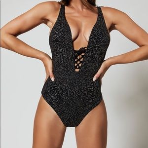 $265 NWT ONIA Lace Up Swimsuit